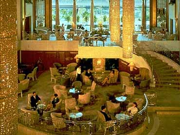 View of the Lobby of the Grand Stanford Inter-Continental Hotel Hong Kong